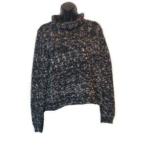 Eileen Fisher Black Marled Turtleneck Sweater